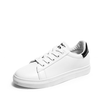 LR Korean-style summer female New style shoes white shoes (Black)