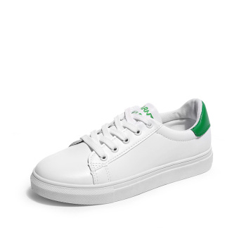 LR Korean-style summer female New style shoes white shoes (Green)