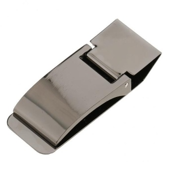 MagiDeal Stainless Steel Money Cash Clip Clamp ID Credit CardHolder Black - intl