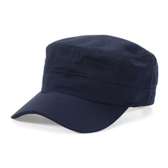 Makiyo Men Women Outdoor Plate Sun Hat Army Plain Military Baseball Sport Cap ( Navy Blue ) - intl Price Philippines