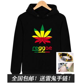 man rock reggae pullover men's sweatshirts & hoodies hoodie Black