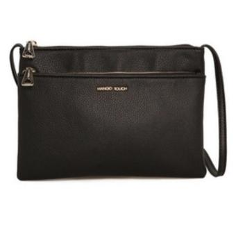Mango Double Compartments Crossbody Bag (Black) - intl Price Philippines