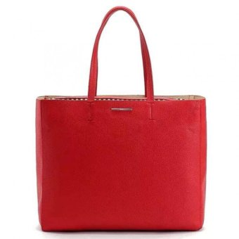 Mango Faux-Leather Shopper Tote Bag (Red) Price Philippines