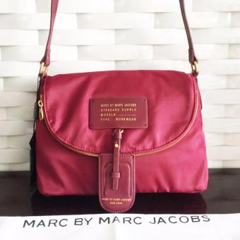 Marc Jacobs Crossbody Sling Bag in Maroon