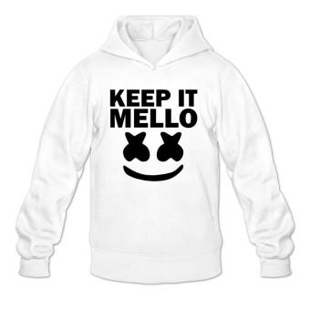 marshmello keep it mello Men Plain Jacket Hoodie White - intl