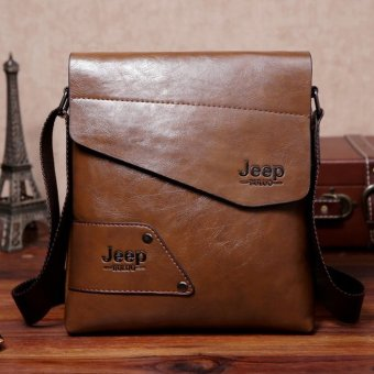Men Casual Crossbody Bag Business Messenger Bag Shoulder Bag Single Shoulder Leather Bag (Brown) Price Philippines