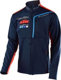 men casual KTM zip up pullover jacket riding cycling sport sweater jacket coat blue - intl
