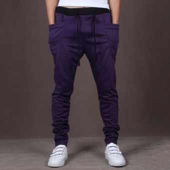 Men Jogger Casual Sport?Shorts Baggy Gym Harem Rope Pants Trouser - intl