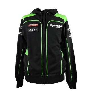 men kawasaki motorcycle hooded pullover jacket black auttumn sport sweater jacket coat - intl