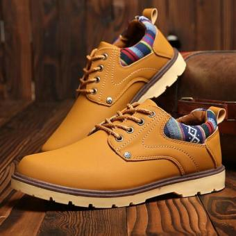 Men 's Boots Martin Boots Leather Boots Casual Boots (Yellow) -intl Price Philippines