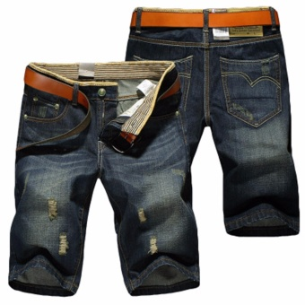 Men Summer Fashion Washing Holes Denim Short Pants - intl