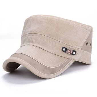 Men Women Classic Adjustable Army Plain Hat Cadet Military BaseballSport Cap (Beige)- Intl Price Philippines
