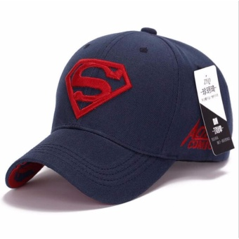 Men Women Unisex Snapback Adjustable Fit Baseball Cap(Blue+Red) -intl