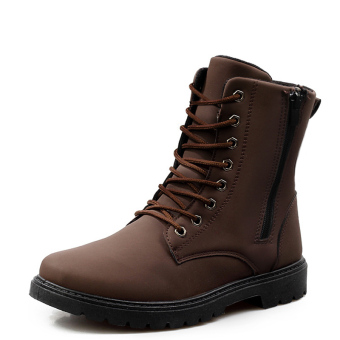 Men's Fashion Leather Waterproof Outdoor Boots Martin Boots Tooling Boots 38