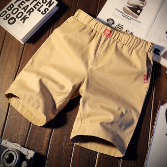 Men's Korean-style Slim Fit Sport Shorts (K103-Khaki)