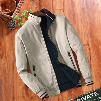 Men's Loose Thin Reversible 100% Cotton Jacket (Light casual)