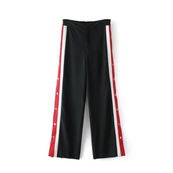 Meng Spring and Autumn New style side of the button jogging pants