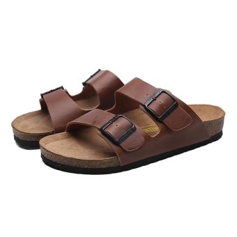 Men's Cow leather Sandals Fashion Casual Slippers Beach shoes -intl Price Philippines