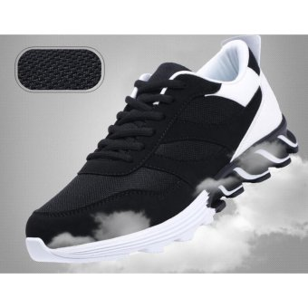Mens Outdoor Sport Jogging Running Shoes Sneakers Casual MeshBreathable Trainers Low Cut Flat Shoes (Black) - intl