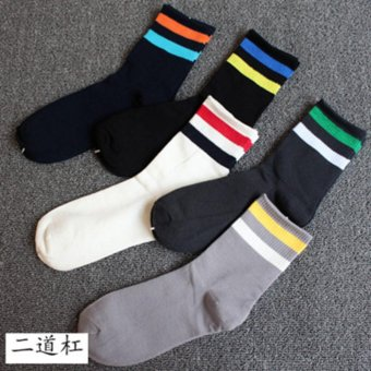 Men's Socks Pure Cotton Deodorant Four Seasons Boat Socks Low ThinSection Invisible Solid Color Medium Sock 5 Pairs of Socks to Sell. - intl