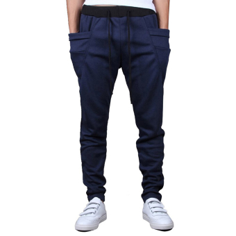 Mens Sweatpants Jogging Tracksuit Bottoms HIP HOP Jogger Sport Sweat Pants Blue