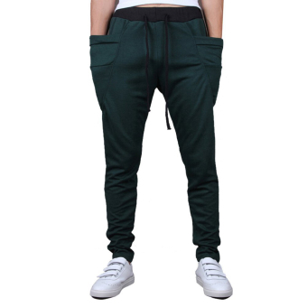 Mens Sweatpants Jogging Tracksuit Bottoms HIP HOP Jogger Sport Sweat Pants Green