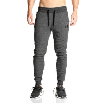 Mens Tracksuit Bottoms Cotton Fitness Skinny Joggers Sweat Pants Pantalones Chandal Hombre Casual Pant - intl