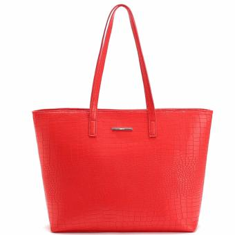 MNG Mango Croco Shopper Tote Bag (Red) Price Philippines