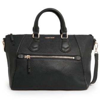 MNG Mango Pebbled Trapezoid Satchel Bag (Black) Price Philippines