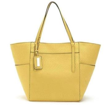 MNG Mango Textured Shopper Tote Bag (Yellow) Price Philippines