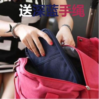 Multi-functional documents bag ticket passport clip wallet documents bag (Dark blue color)