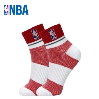 NBA Men Basketball Sports socks (White/Hong)