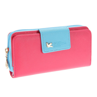 New Arrival High Quality Women Wallet Brand Women's Bag(rose red)