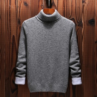 autumn and winter sweater men's Korean Slim youth men's sweater high collar warm fashion men tide - intl