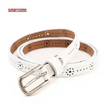 New Fashion Summer Style Genuine Leather Belt For Women Pin Buckle Waist female Dress Belts Hollow