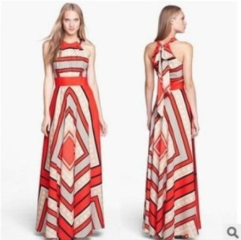 New Fashion Women's A-Line Dresses Summer Beach Casual Dresses - Red - intl