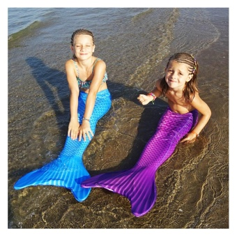New Gift Mermaid Tail Swimwear Swimsuit with Monofin Swim Fin forLittle Girl's - intl