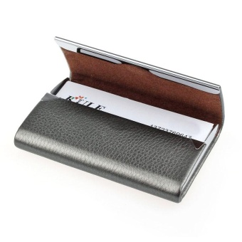 New Leather Business Credit Card Name Id Card Holder Case Wallet Box GY - intl