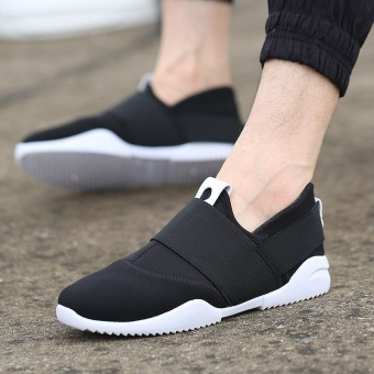 New Men's England Canvas Casual Sneakers Sport Breathable Running Shoes Trainers Black - intl