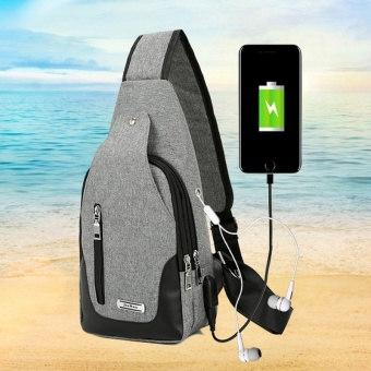 New Multifunctional Anti-theft Business Crossbody Bag Shoulder Bagpack With External USB Charge Travel Chest Bags - intl