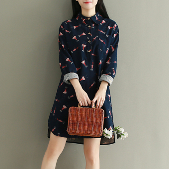 New style loose not rule skirt long-sleeved shirt
