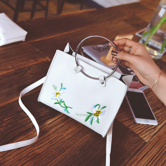 New style picture ring bag handbag women's bag (Off-white color) (Off-white color)