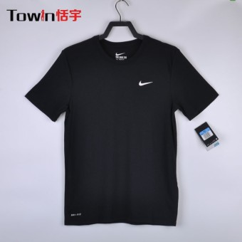 Nike ah8397-010 casual men's breathable short sleeved t-shirt