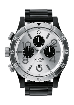 Nixon 48-20 Chrono Men's Black Stainless Steel Strap Watch A486-180