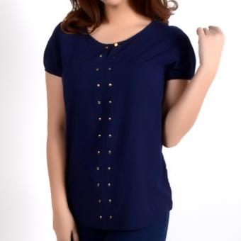 No Apologies Plain Rayon S/S Blouse Nft04-0143 (N.Blue) Price Philippines