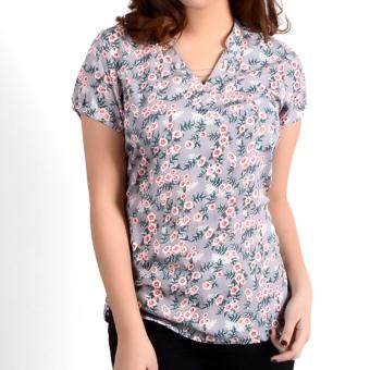 No Apologies Printed Rayon S/S Blouse Nft04-0325 (Gray) Price Philippines
