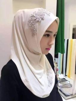 ocean new fashion women muslim wear hijabs turban lace embroideryflower scarf hui folk style hijabs(