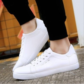 Ocean Ocean leather shoes Men's Fashion Sneakers TrendBreathable(White) - intl Price Philippines