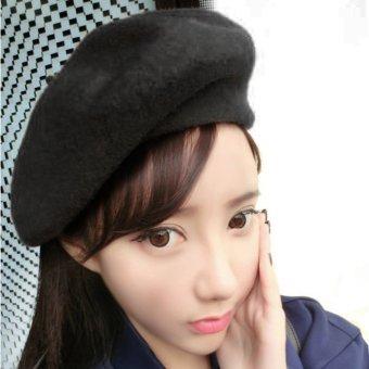 LALANG Women Beret Cap Vintage Solid Color Beanie Hat Classic Berets Navy. Source · OH New Autumn Winter Women's Fashionable Cap Berets Princess Hat Black