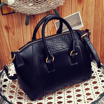OH New Fashion Leather Women Lady Messenger Handbags Single Shoulder Bags black - Intl